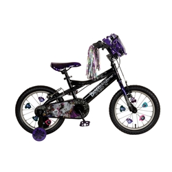 Bratz 16 inch Black/Purple Bike
