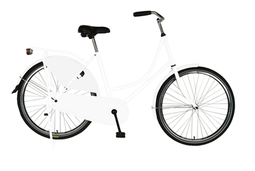 Cycle Force Dutch Style Bike with Chain Guard and Dress Guard, 26 inch wheels, 22 inch frame, Womens Bike, White