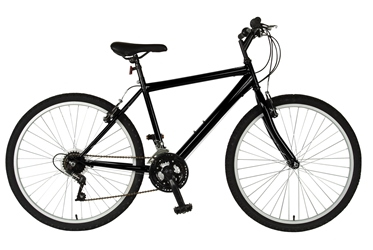 Cycle Force Rigid Mountain Bike, 26 inch wheels, 18 inch frame, Mens Bike, Black