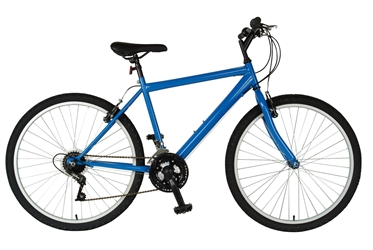 Cycle Force Rigid Mountain Bike, 26 inch wheels, 18 inch frame, Mens Bike, Blue