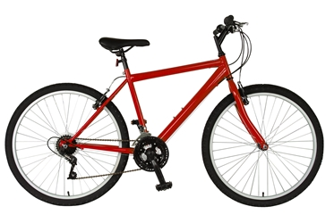 Cycle Force Rigid Mountain Bike, 26 inch wheels, 18 inch frame, Mens Bike, Red