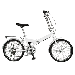 Cycle Force Folding Bike, 20 inch wheels, 13 inch frame, Unisex, White