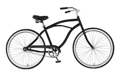 Cycle Force Cruiser Bike, 26 inch wheels, 18 inch frame, Mens Bike, Black