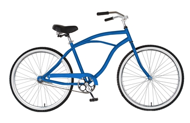 Cycle Force Cruiser Bike, 26 inch wheels, 18 inch frame, Mens Bike, Blue