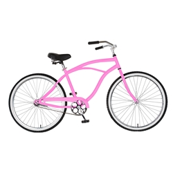 Cycle Force Cruiser Bike, 26 inch wheels, 18 inch frame, Pink