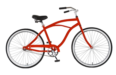 Cycle Force Cruiser Bike, 26 inch wheels, 18 inch frame, Mens Bike, Red