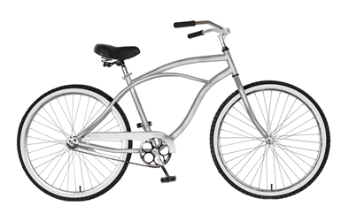 Cycle Force Cruiser Bike, 26 inch wheels, 18 inch frame, Mens Bike, Silver