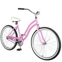 Cycle Force Cruiser Bike, 26 inch wheels, 18 inch frame, Womens Bike, Pink