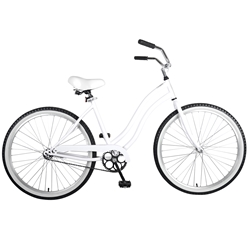 Cycle Force Cruiser Bike, 26 inch wheels, 18 inch frame, Womens Bike, White