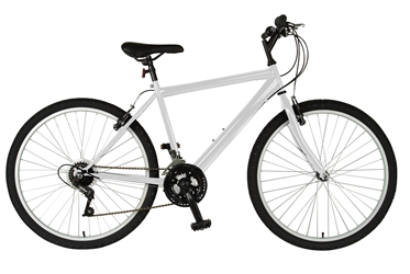 Cycle Force Rigid Mountain Bike, 26 inch wheels, 18 inch frame, Mens Bike, White