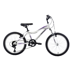 Piranha 7 Speed Kids MTB, 20 inch wheels, Girls Bike, Silver