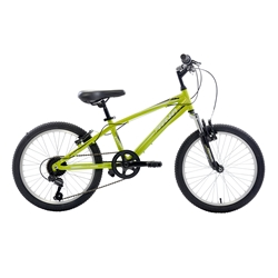 Piranha 7 Speed Kids MTB, 20 inch wheels, Boys Bike, Green