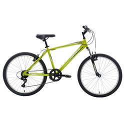 Piranha 7 Speed Hardtail MTB, 24 inch wheels, Boys Bike, Green