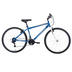 Piranha 21 Speed Rigid MTB, 26 inch wheels, 16 inch frame, Mens Bike, Blue