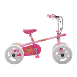 Quadrabyke Kiss Kids Cycle, 10 inch Wheels, 2, 3 or 4-wheel design, Girls Bike, Pink