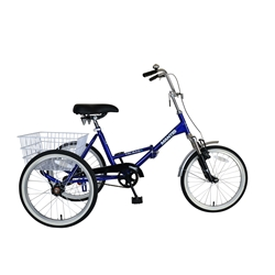 Mantis Tri-Rad 20 Blue Adult Folding Tricycle